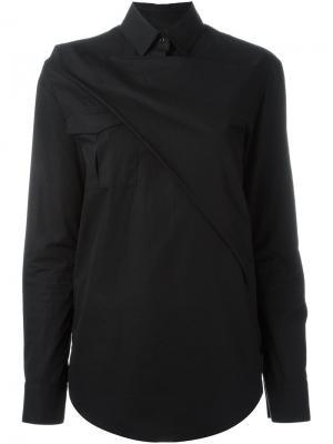 Рубашка с перекрестным слоем Chalayan. Цвет: чёрный