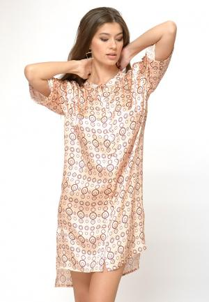 Платье домашнее Petit Pas. Цвет: бежевый