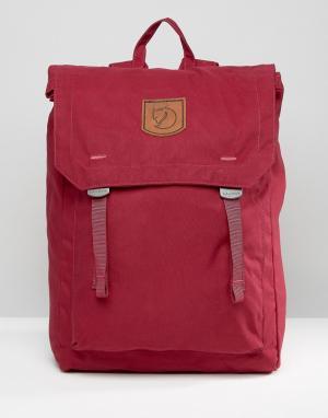 Fjallraven Бордовый рюкзак Foldsack 16L. Цвет: красный