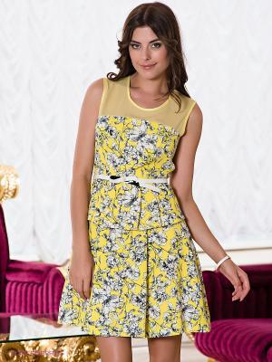 Платье Verezo. Цвет: желтый, синий
