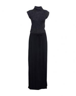 Длинное платье STEFANEL. Цвет: стальной серый