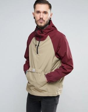 Penfield Двухцветная куртка через голову с капюшоном Pac Jac. Цвет: красный