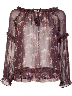 Printed peasant blouse Ulla Johnson. Цвет: красный