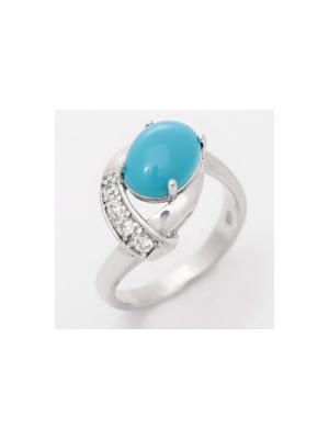Кольцо BALEX. Цвет: бирюзовый, серебристый