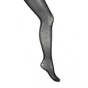 Колготки с отделкой гладью MADEMOISELLE R. Цвет: черный