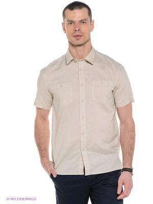 Рубашка Finn Flare. Цвет: светло-бежевый