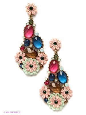 Серьги Royal Diamond. Цвет: розовый, синий