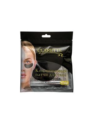 Коллагеновые патчи для глаз CLARETTE. Цвет: черный