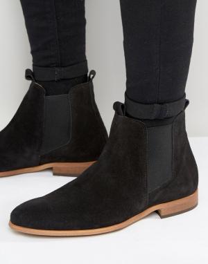 Zign Замшевые ботинки челси. Цвет: черный