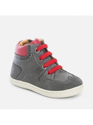 Ботинки Mayoral. Цвет: темно-серый