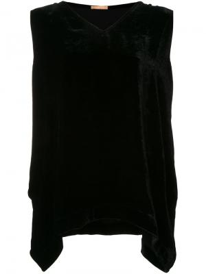 Бархатный топ Bianne Nehera. Цвет: чёрный