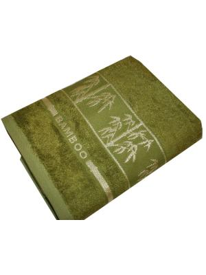 Бамбуковое полотенце 50*90 см. Dream time. Цвет: хаки