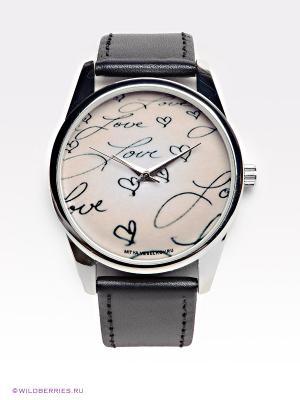 Часы Mitya Veselkov. Цвет: розовый, черный