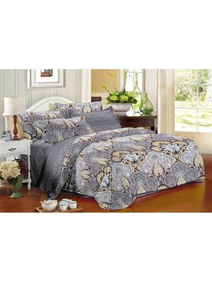 Комплект постельного белья Ля Мур. Цвет: серый