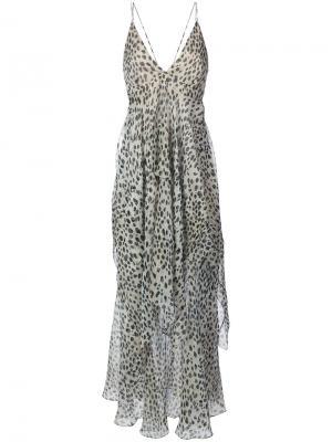 Длинное платье с принтом Roberto Cavalli. Цвет: телесный