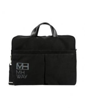 Деловые сумки MH WAY. Цвет: черный
