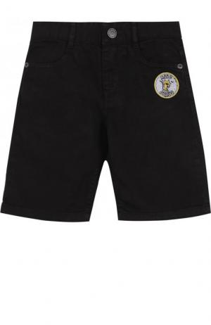 Джинсовые шорты с нашивками Marc Jacobs. Цвет: черный