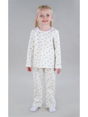 Пижама Letto. Цвет: белый