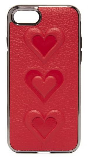 Чехол для iPhone 7 с рельефными сердечками Rebecca Minkoff