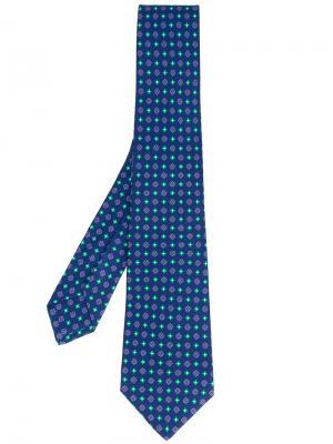 Floral print tie Kiton. Цвет: синий