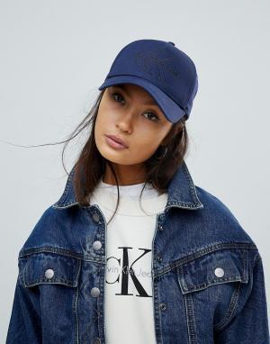 Calvin Klein Кепка с логотипом. Цвет: темно-синий