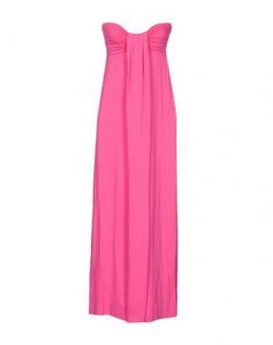 Платье длиной 3/4 FRANCESCA FERRANTE. Цвет: фуксия