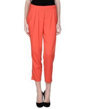 Повседневные брюки LIST. Цвет: красный