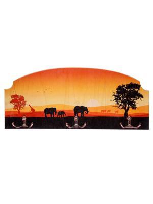 Вешалка-ключница сафари Miolla. Цвет: оранжевый, черный