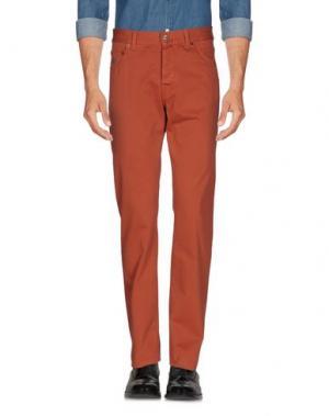 Повседневные брюки LUIGI BORRELLI NAPOLI. Цвет: кирпично-красный