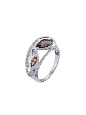 Кольцо Мастер Клио. Цвет: серебристый, золотистый, белый, коричневый
