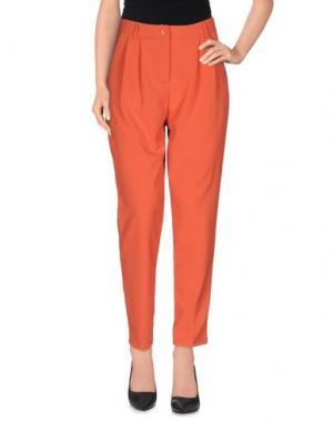 Повседневные брюки SOUVENIR. Цвет: коралловый