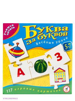 Настольная игра Буква за буквой Дрофа-Медиа. Цвет: желтый, голубой
