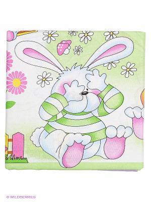 Комплект постельного белья Василек. Цвет: фиолетовый, белый, сливовый