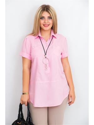 Блузка BALSAKO. Цвет: бледно-розовый