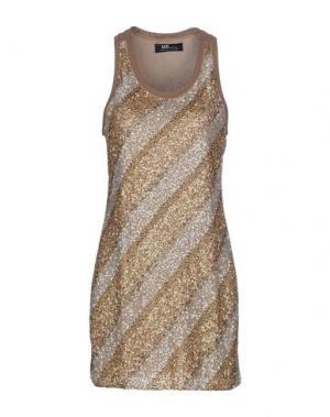 Короткое платье MRESALE. Цвет: хаки