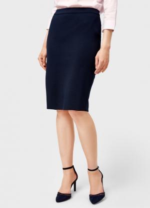 Прямая юбка OSTIN. Цвет: темно-синий