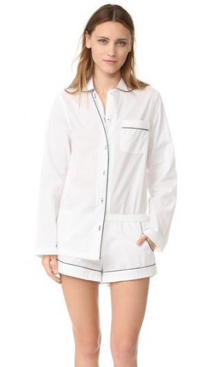 Пижама Josephine Three J NYC. Цвет: белый/темно-синяя окантовка