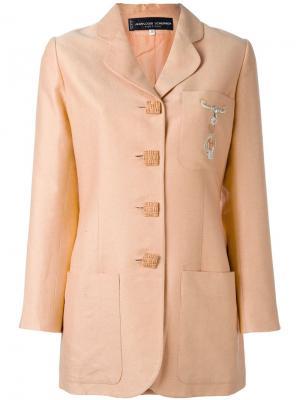 Блейзер с вышивкой Jean Louis Scherrer Vintage. Цвет: жёлтый и оранжевый
