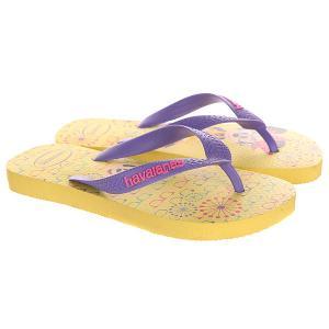 Вьетнамки детские  Minnie Yellow/Purple Havaianas. Цвет: желтый,фиолетовый