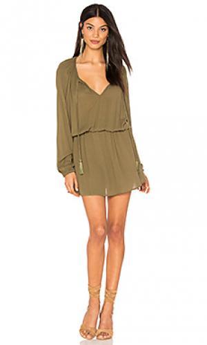 Платье из крепа ezma Clayton. Цвет: зеленый
