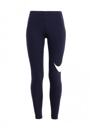 Тайтсы Nike. Цвет: синий