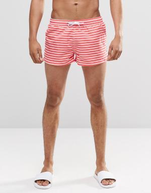 Swells Короткие шорты в красную полоску. Цвет: красный