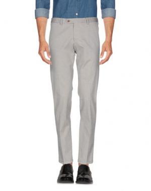 Повседневные брюки ROBERTO PEPE. Цвет: светло-серый