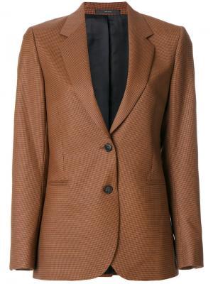 Fitted tailored blazer Paul Smith. Цвет: коричневый