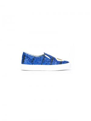 Eye embroidered sneakers Chiara Ferragni. Цвет: синий