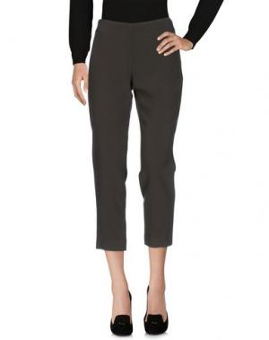 Повседневные брюки GIANLUCA CAPANNOLO. Цвет: зеленый-милитари