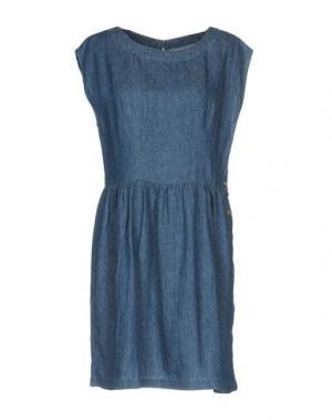 Короткое платье DES PETITS HAUTS. Цвет: синий