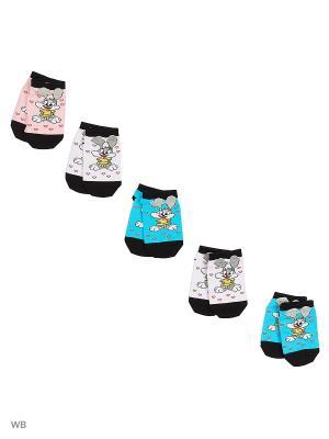 Носки детские (5 пар) HOSIERY. Цвет: белый, бирюзовый, розовый