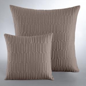 Наволочка на подушку-валик Aima La Redoute Interieurs. Цвет: светло-серо-коричневый/бежевый,светло-серый/темно-серый