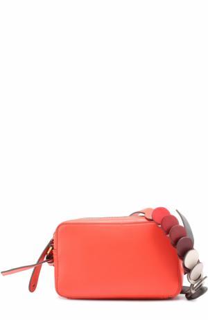 Сумка Circle Mini Cross-Body Anya Hindmarch. Цвет: красный